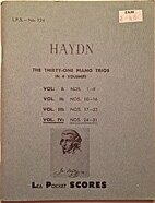Haydn: The Thirty-one Piano Trios: Vol. IV:…