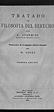 Tratado de filosofía del derecho by Rudolf…