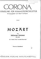 Drei Salzburger Sinfonien, ohne Bläser by…