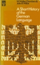 A Short History of the German Language…