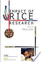 Impact of rice research by Prabhu L. Pingali