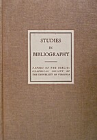 Studies in Bibliography (Vol. 22) by Fredson…
