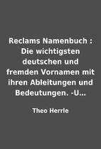 Reclams Namenbuch : Die wichtigsten…