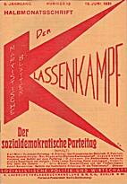 Der Klassenkampf. 5. Jahrgang. Nummer 13 1.…