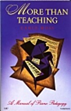 More Than Teaching by Earle Moss