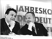 Author photo. Max Walter Schulz (left) and Otto Gotsche, 1966, by Christa Hochneder, CC-BY-SA 3.0