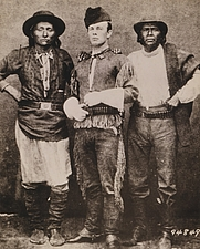 Author photo. Indian agent John P. Clum with Diablo and Eskiminzim, at San Carlos Agency: Library of Congress Prints and Photographs Division (REPRODUCTION NUMBER:  LC-USZC4-7938) (cropped)