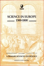 Science in Europe 1500-1800 Volume 1 A…