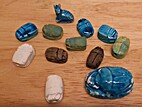 Ceramic Scarab Beads