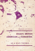 As a man thinks-- : essays British, American…