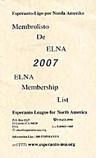 Membrolisto de ELNA 2007 / ELNA Membership…