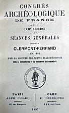 France: 1895, 62e Congrès archéologique de…