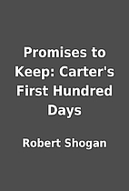 Promises to Keep: Carter's First…