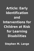 Article: Early Identification and…