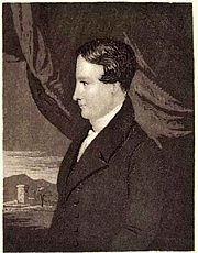 "Kirjailijan kuva. From ""Memoir and remains of the Rev. Robert Murray McCheyne, minister of St. Peter's Church"", 1844"