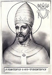 Foto do autor. Pope Saint Martin I / Wikipedia