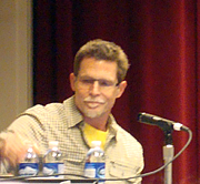 "Författarporträtt. Food and Comics panel, C2E2 2011, photo by <a href=""http://www.librarything.com/profile/i_am_scifi"" rel=""nofollow"" target=""_top"">Ian Levenstein</a>"