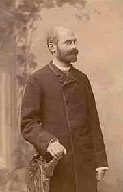 Forfatter foto. Émile Durkheim, photographie prise à Leipzig en 1886