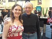 """Författarporträtt. Wikipedia: """"Dick Smith with his student, Anastasia Casini"""" Circa 2009"""