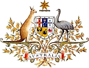Forfatter foto. Coat of Arms of the Commonwealth of Australia