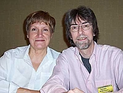 Kirjailijan kuva. C. A. Bridges (Jeanne and Spider Robinson, Necronomicon 2004)