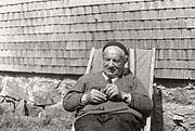 Foto de l'autor. Martin Heidegger in der Hütte , 1968
