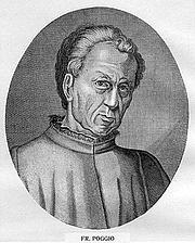 Forfatter foto. Giovanni Francesco Poggio Bracciolini