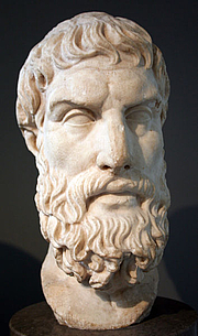 "Fotografia de autor. Image by ChrisO, 18 June 2006.From <a href=""http://en.wikipedia.org/wiki/Image:Epicurus.jpg"">Wkipedia</a>"