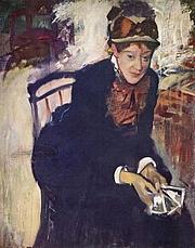 Författarporträtt. Portrait by Edgar Degas, circa 1876-1878<br> (Yorck Project)