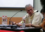 Foto de l'autor. Beijing Zoo lecture, Aug. 10, 2005 (photo credit: Smartneddy, Wikipedia user)