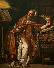 Foto do autor. Saint Augustine by Philippe de Champaigne