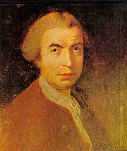 Fotografia dell'autore. Rudjer Boskovic, by R. Edge Pine, London, 1760. Wikimedia Commons.