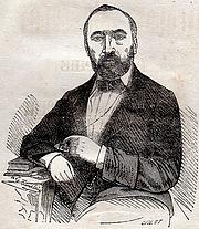 Författarporträtt. Biographie de Jacquot dit de Mirecourt par Théophile Deschamps. 1857.
