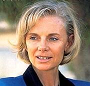 Fotografia dell'autore. Elisabeth Guigou en première de couv sur son livre d'entretiens paru en 2000 'Une femme au coeur de l'Etat' (Edtions Fayard)
