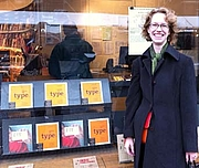 """Author photo. Ellen Lupton at ABC American Book Center, Amsterdam, from <a href=""""http://www.thinkingwithtype.com/"""" rel=""""nofollow"""" target=""""_top"""">ThnkingWithType.com</a>"""