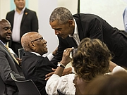 "Fotografia dell'autore. Timuel Black and some other guy. Photo by Ashlee Rezin, found at <a href=""https://chicago.suntimes.com/news/former-president-obama-surprise-mystery-guest-youth-obama-foundation/"" rel=""nofollow"" target=""_top"">Chicago Sun-Times website</a>"