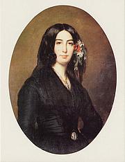 Fotografia de autor. Portrait of George Sand by Auguste Charpentier (1838)