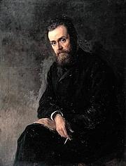 Autoren-Bild. Russian writer Gleb Ivanovich Uspensky<br>1884
