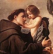 Forfatter foto. Saint Anthony of Padua / Anthony of Padua with the Infant Jesus by Antonio de Pereda.