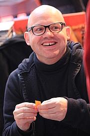 Foto de l'autor. Loïc Dauvillier lors de Quai des Bulles à Saint-Malo le 27 octobre 2012