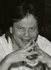 "Foto de l'autor. Sweden, March 1985,<br> promoting 'Brazi""<br> (Credit: wikipedia user Towpilot)"