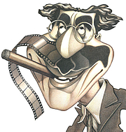 Författarporträtt. Caricature by Greg Williams