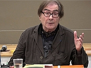 Författarporträtt. Antoine Faivre en 2018 lors d'une conférence sur 'Carl Friedrich Tieman, illuministe et cosmopolite du XVIIIème siècle'