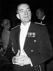 Fotografia de autor. Alain de Boissieu en 1974 lors d'une cérémonir officielle