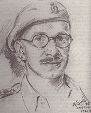 Forfatter foto. Sketch by a fellow soldier in Italy during WWII.