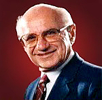"Författarporträtt. Milton Friedman, Nobel Prize in economics and libertarian activist by <a href=""http://www.freetochoosemedia.org/"" rel=""nofollow"" target=""_top"">http://www.freetochoosemedia.org/</a>"