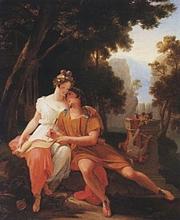 Foto de l'autor. <i>Propertius and Cynthia at Tivoli</i> by Auguste Jean Baptiste Vinchon