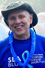 Författarporträtt. Craig Pynn at the Us TOO SEABlue Walk/Run Chicago, 9/2010