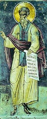 Foto do autor. Saint Dorotheus of Gaza / Anonymous painting of St. Dorotheus of Gaza, from Mount Saint Dionysius, Mount Athos, 1547.