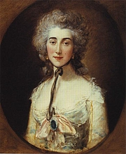 Forfatter foto. Portrait of Grace Dalrymple Elliott by Thomas Gainsborough, c. 1788 (The Frick Collection)